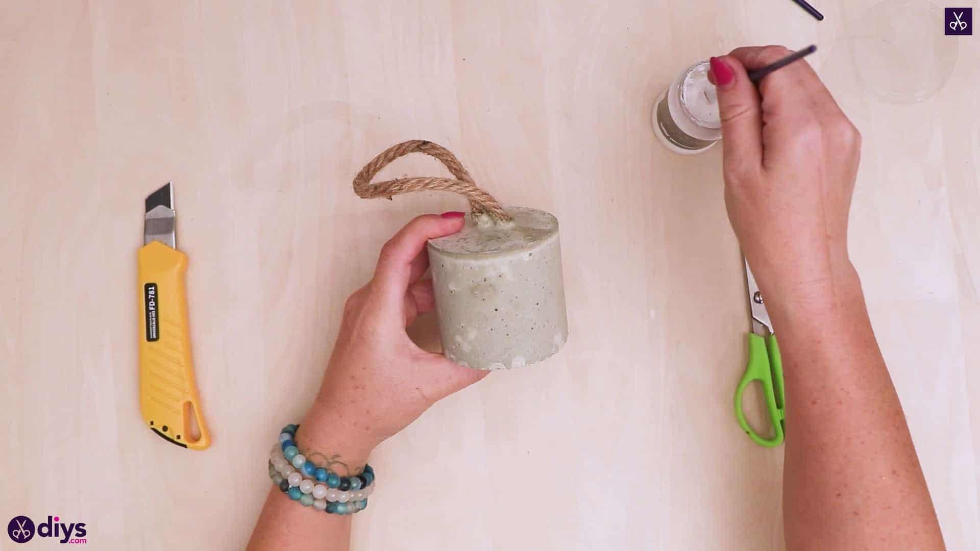 Diy concrete door stopper sandpaper