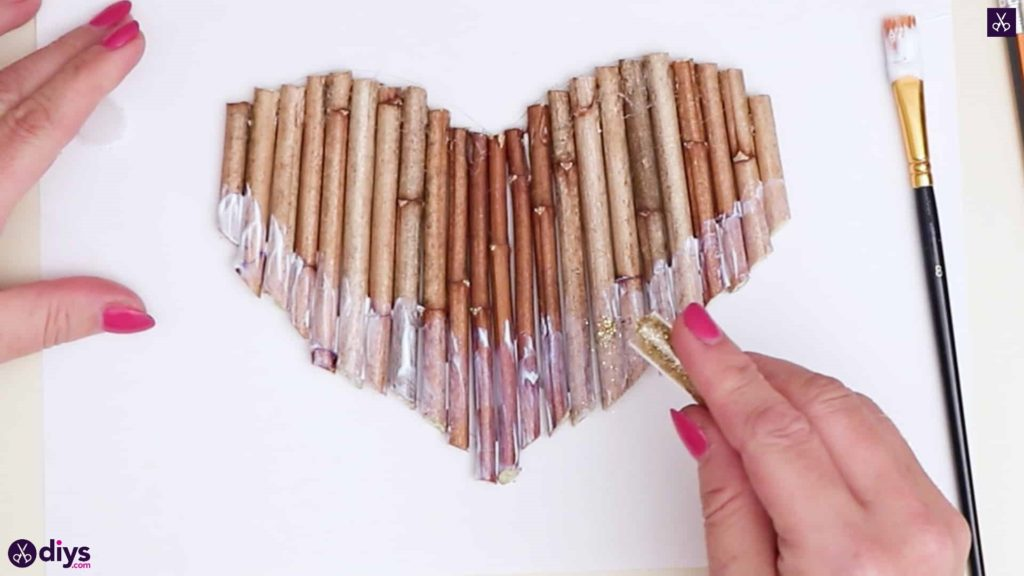 Diy hanging twig heart step 4b