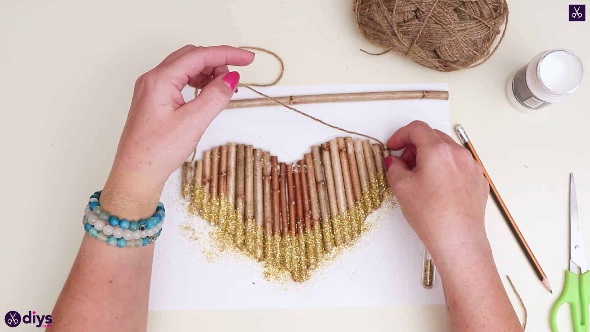Diy hanging twig heart step 5b