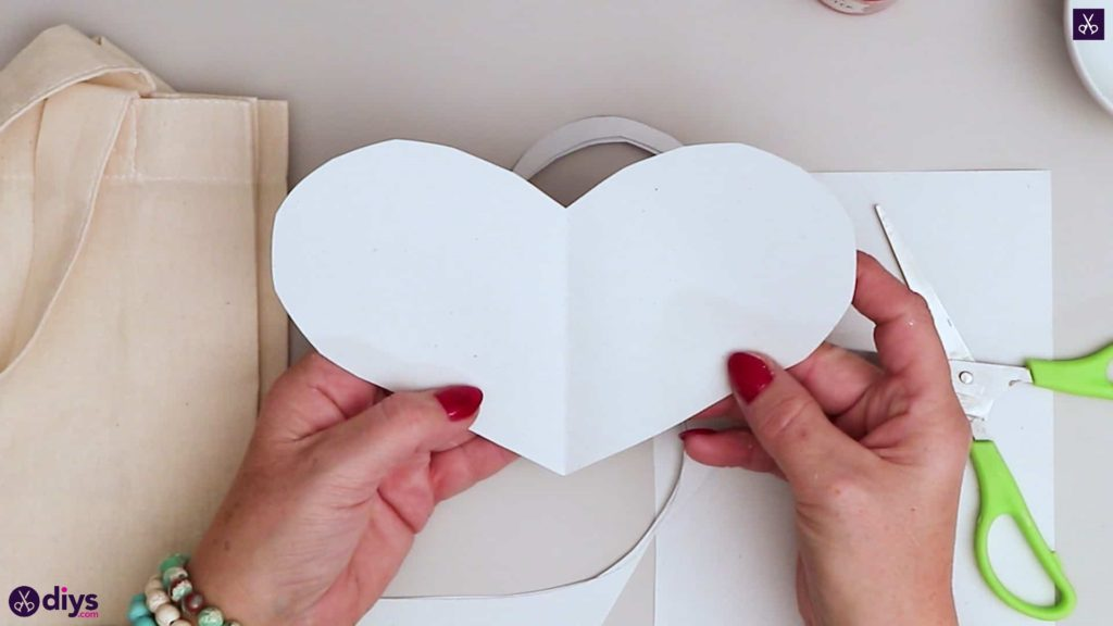 Diy heart tote bag fold