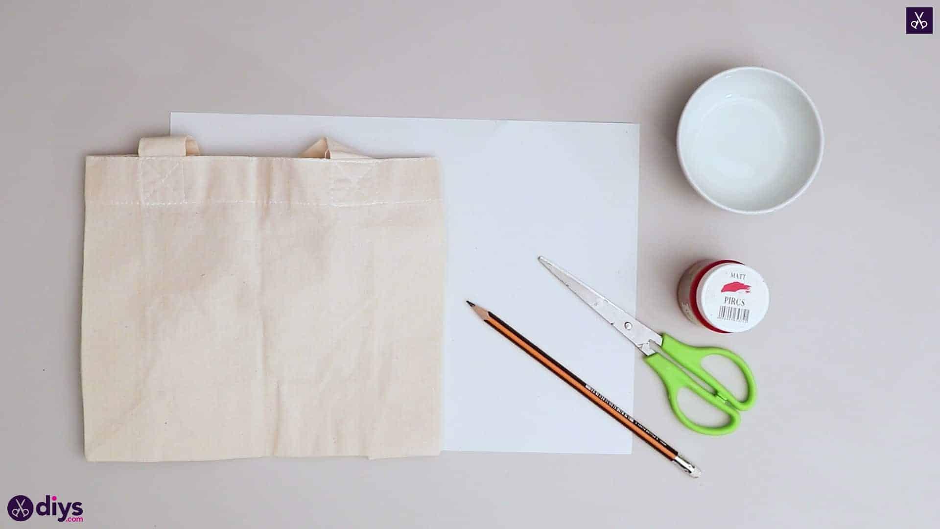 Diy heart tote bag materials