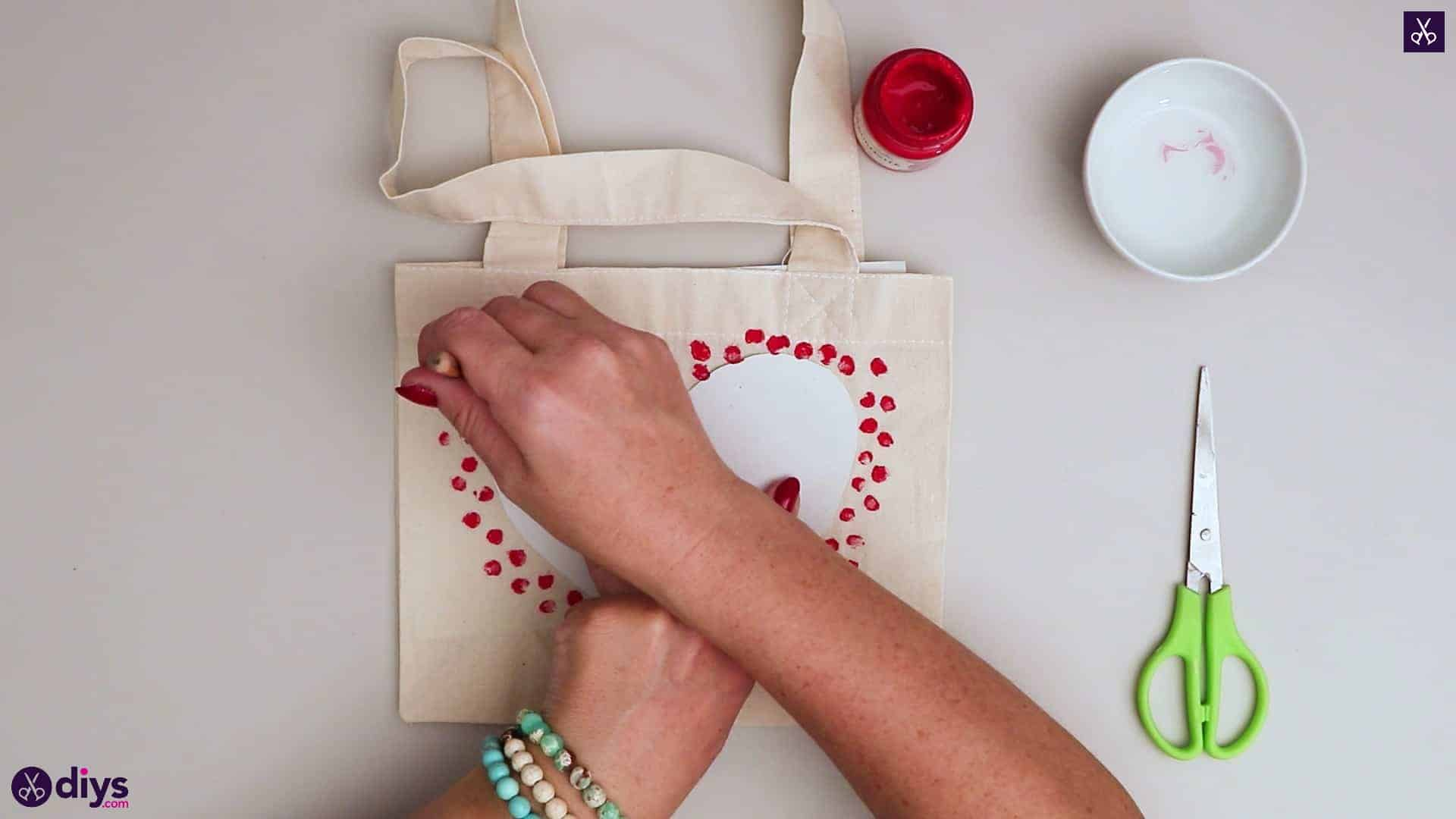 Diy heart tote bag modern design