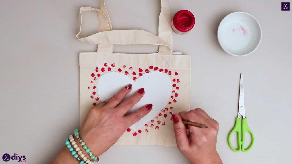 Diy heart tote bag simple design