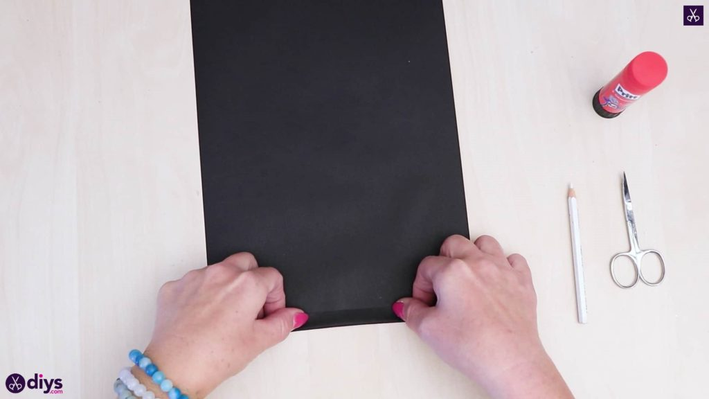 Diy paper lantern art black paper