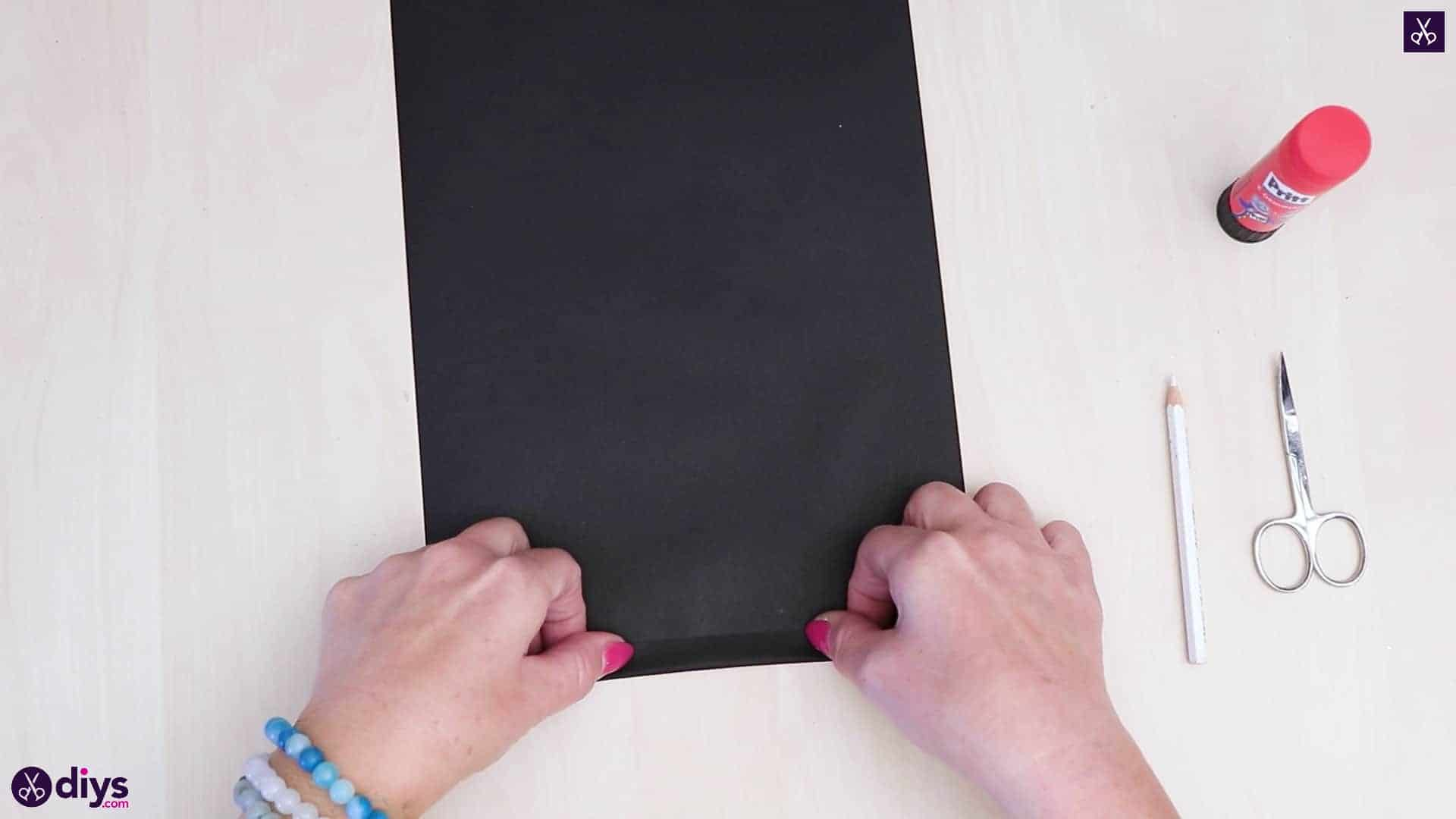 Diy paper lantern art black paper