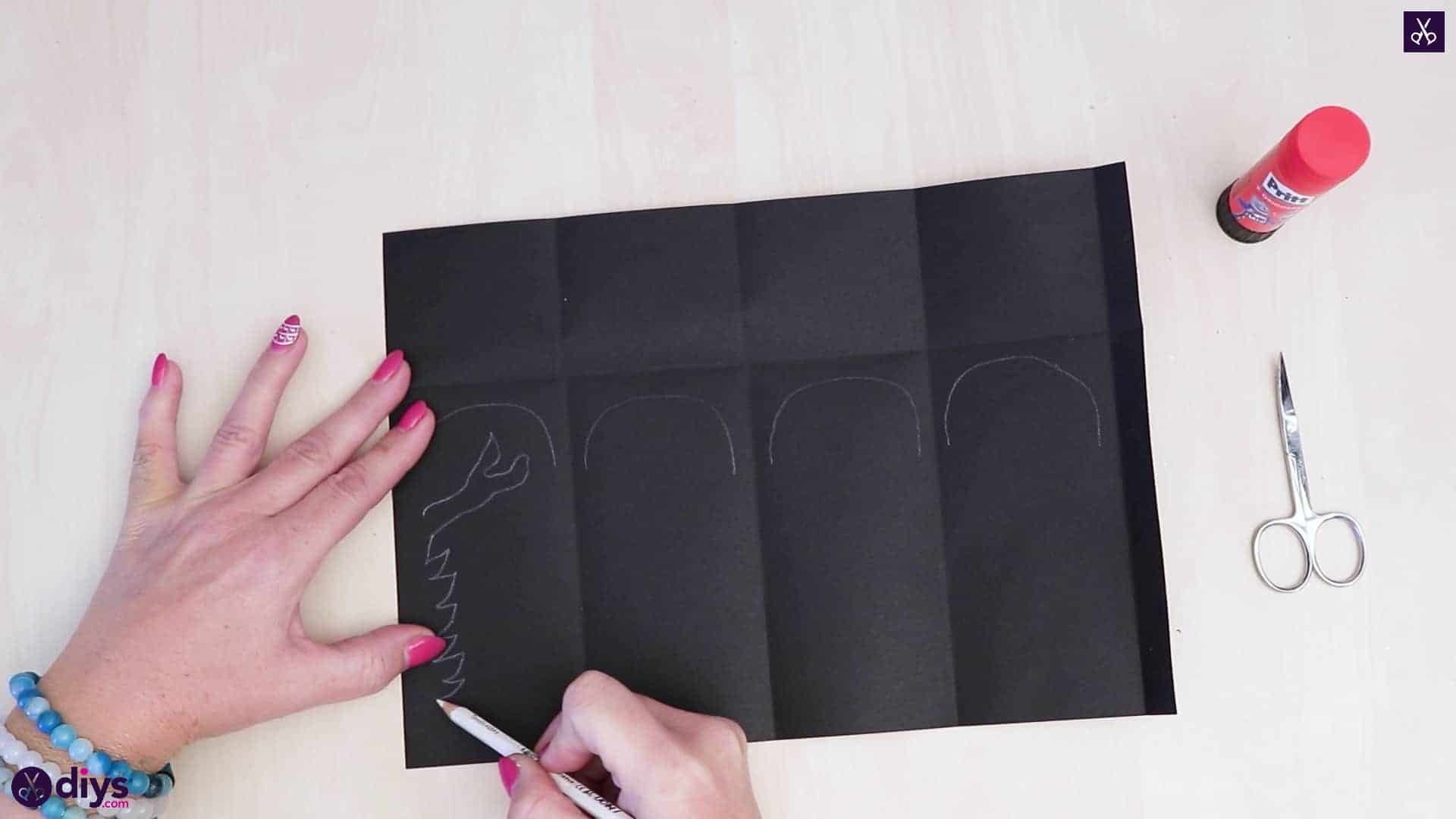 Diy paper lantern art step 3a
