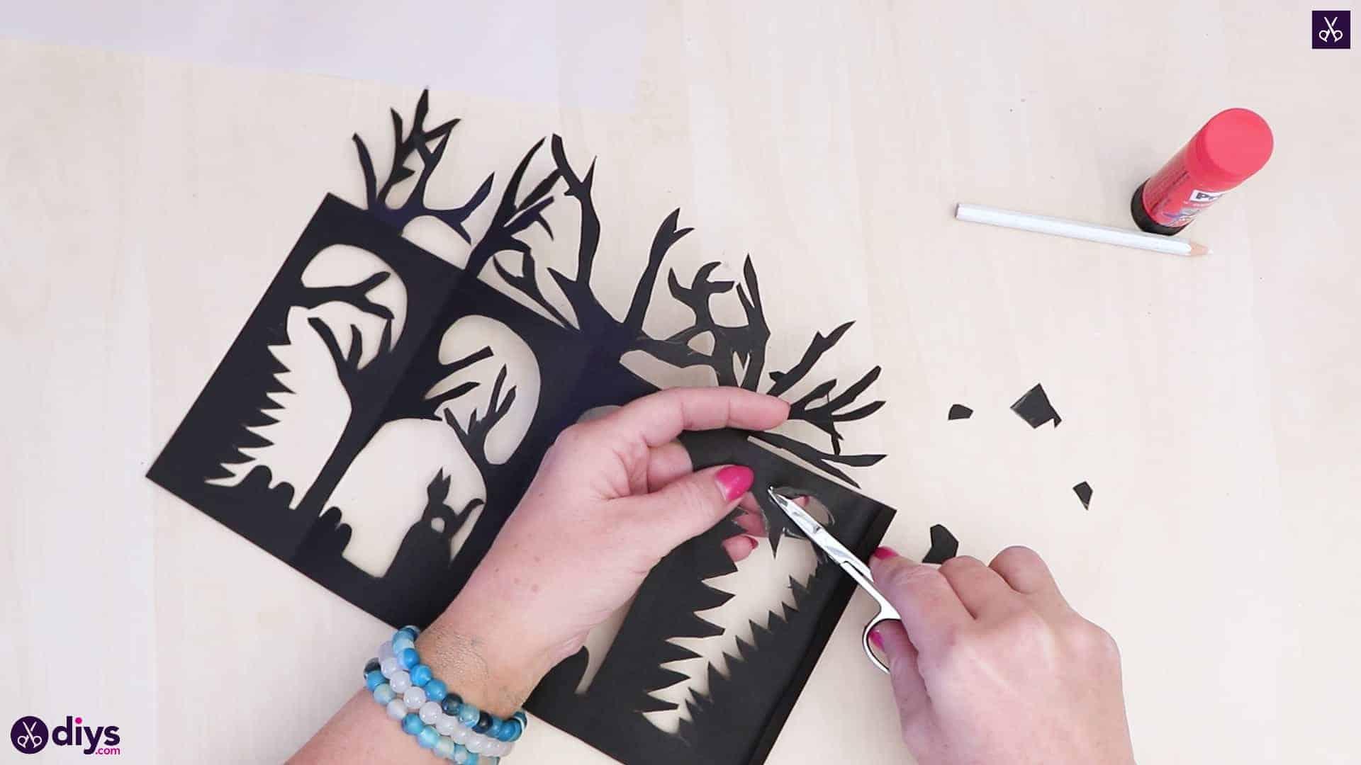 Diy paper lantern art step 4