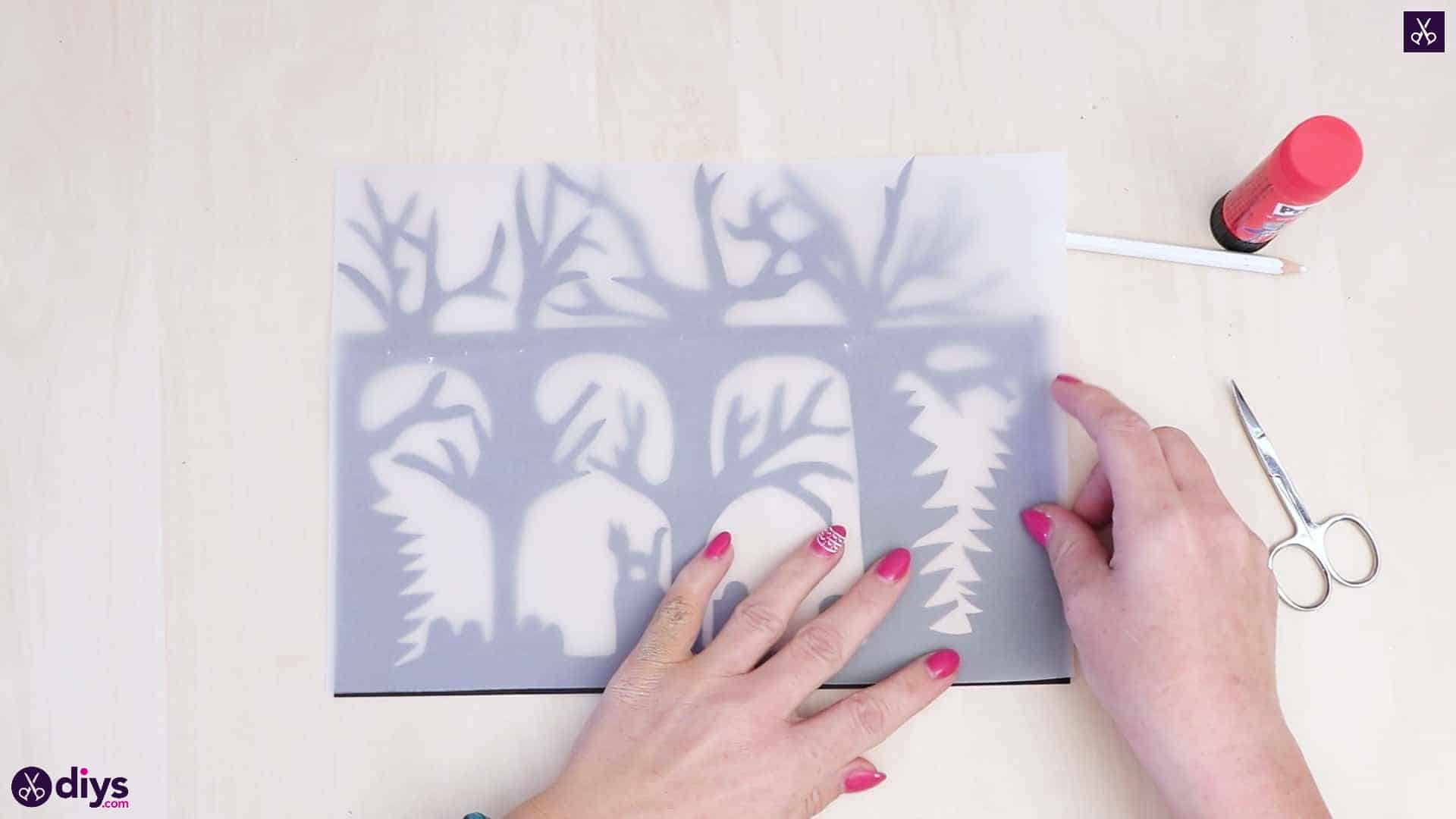 Diy paper lantern art step 5