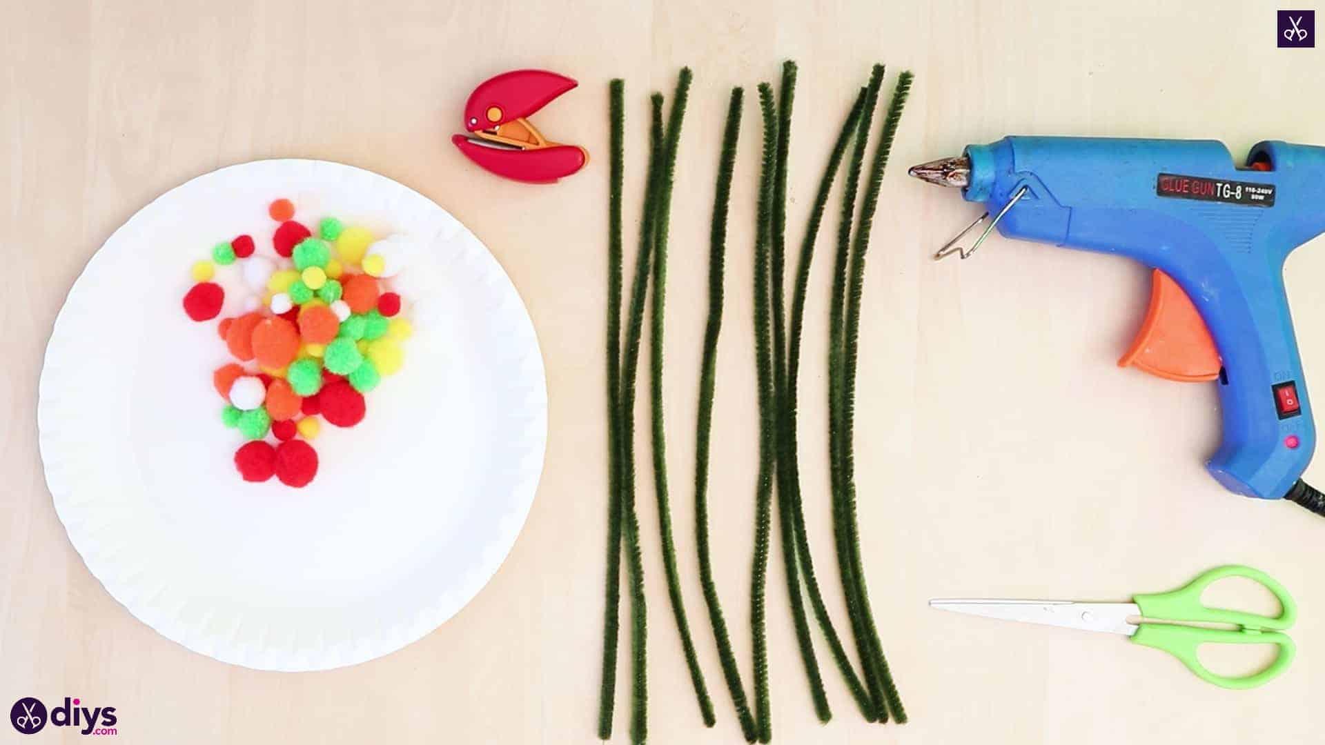 Diy paper plate tree art materials