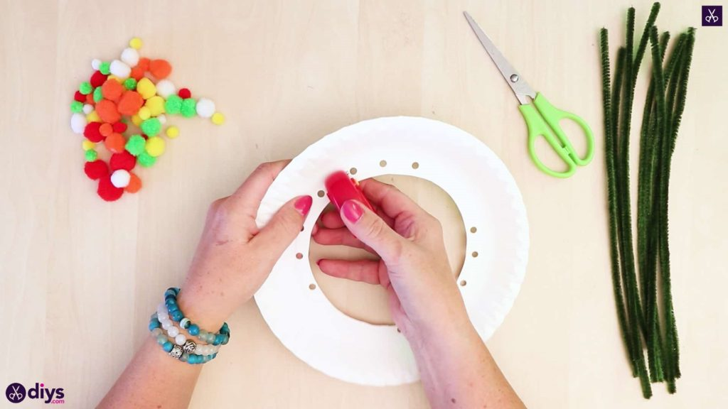 Diy paper plate tree art more stamps