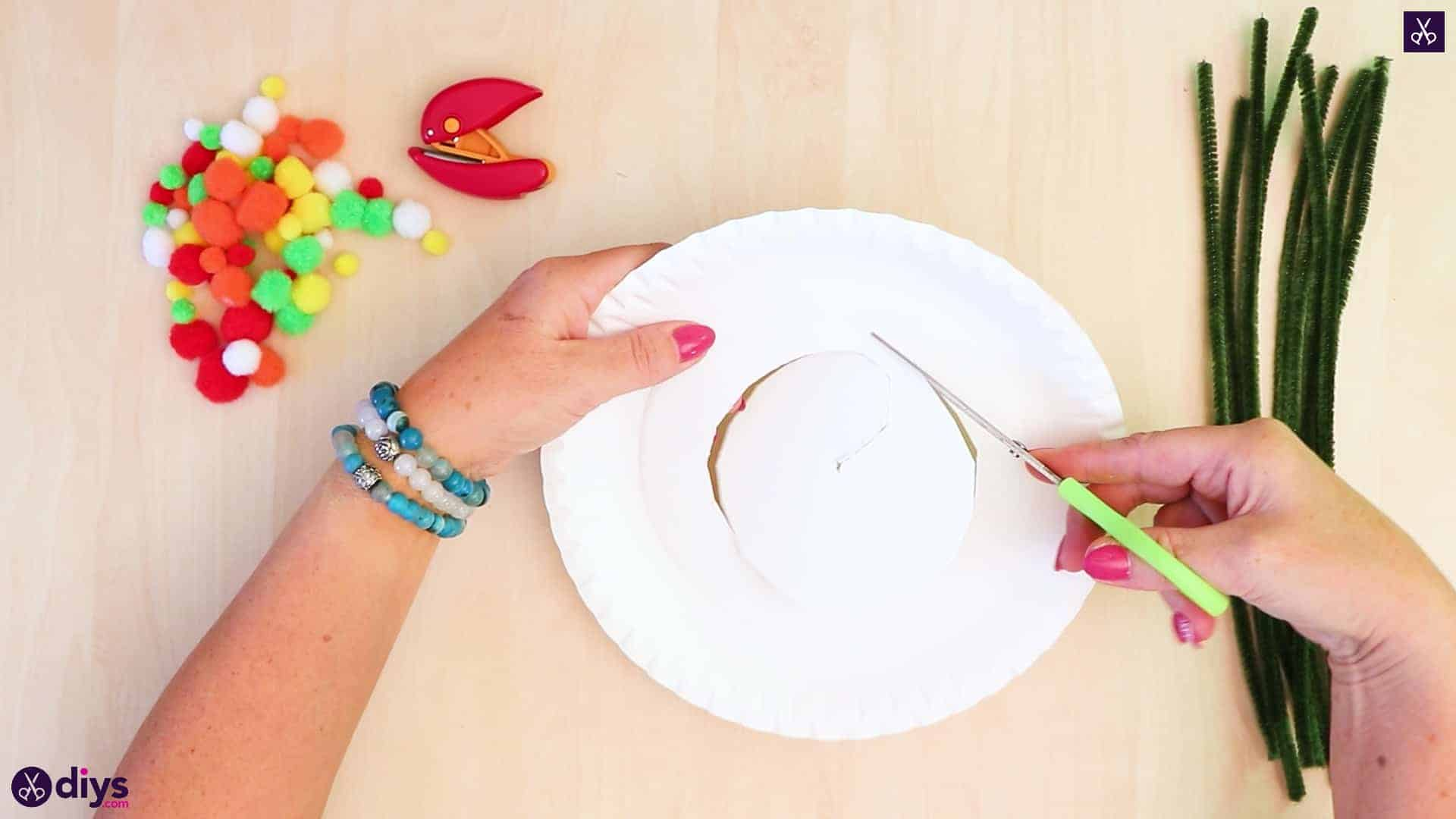 Diy paper plate tree art round plate