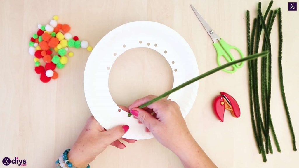 Diy paper plate tree art step 4