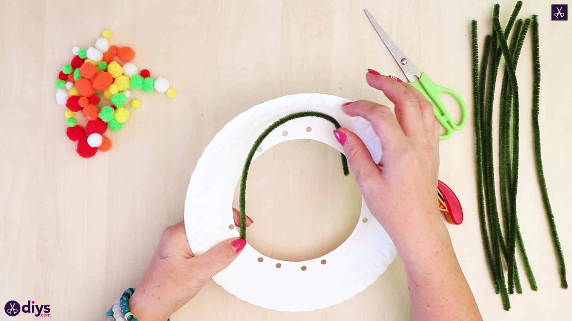Diy paper plate tree art step 4a