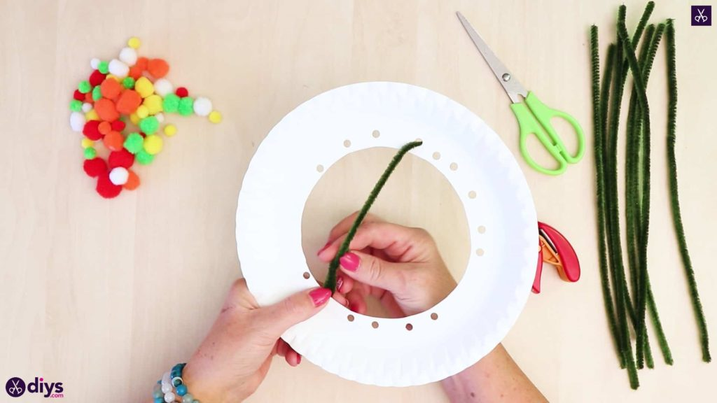Diy paper plate tree art step 4b