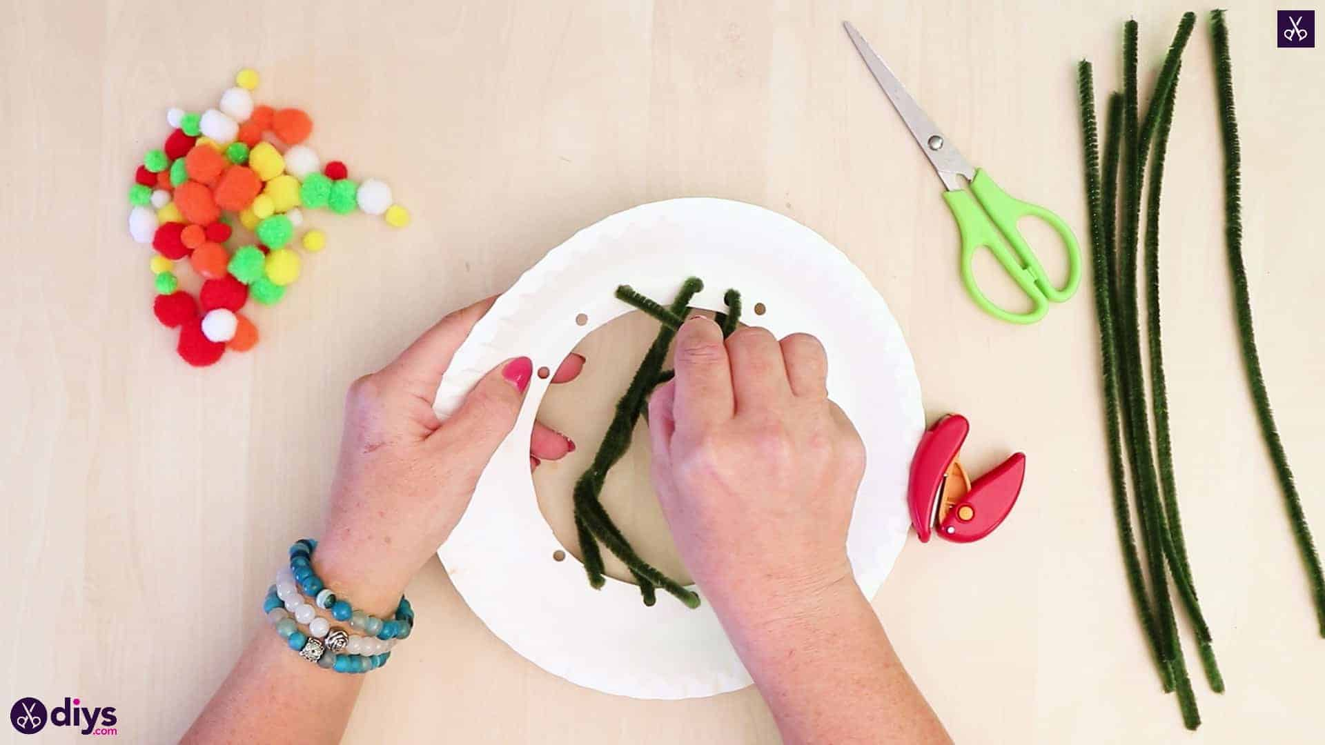 Diy paper plate tree art step 4d