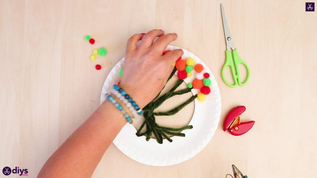Diy paper plate tree art step 5c