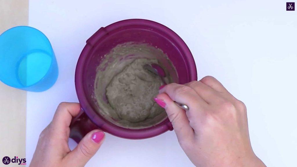 Diy simple concrete doily pot mix materials