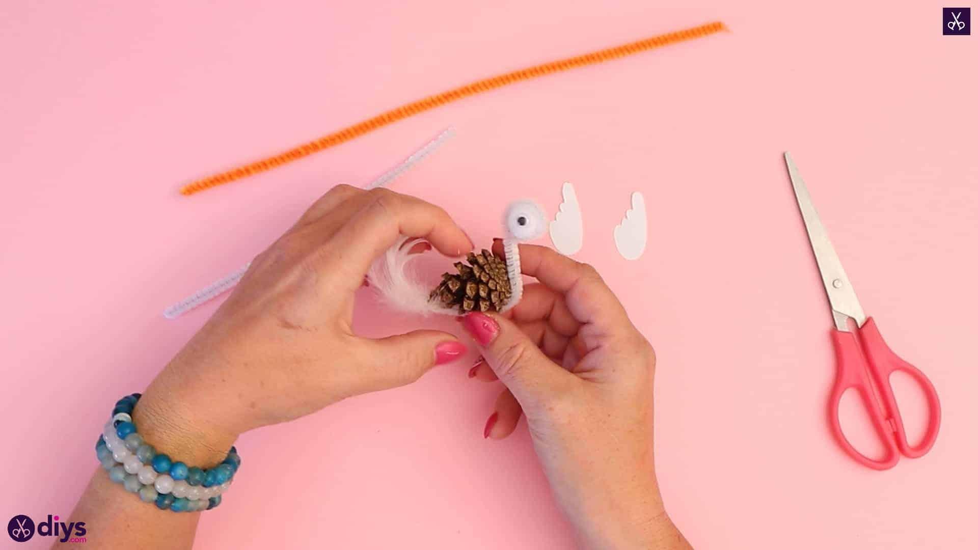 Diy simple pinecone swan step6a
