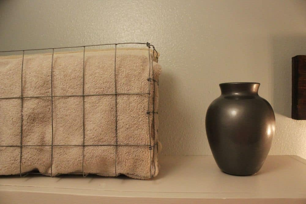 Diy wire basket for towels