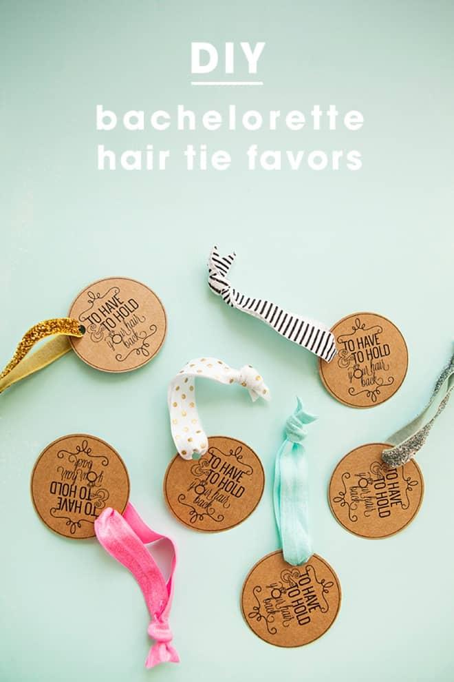 Diy hair tie favours