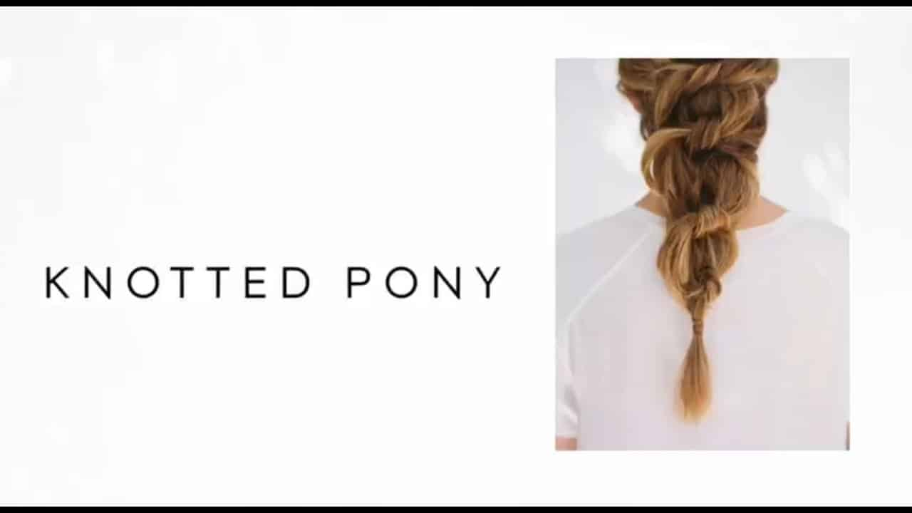 Diy knotted, voluminous pony