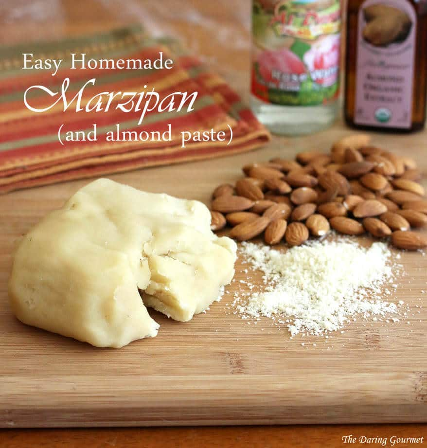 Easy homemade marzipan and almond paste