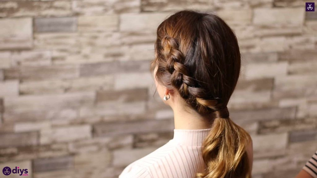Elegant side braid hairstyle