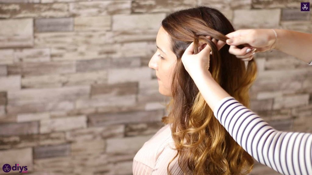 Elegant side braid hairstyle step 2