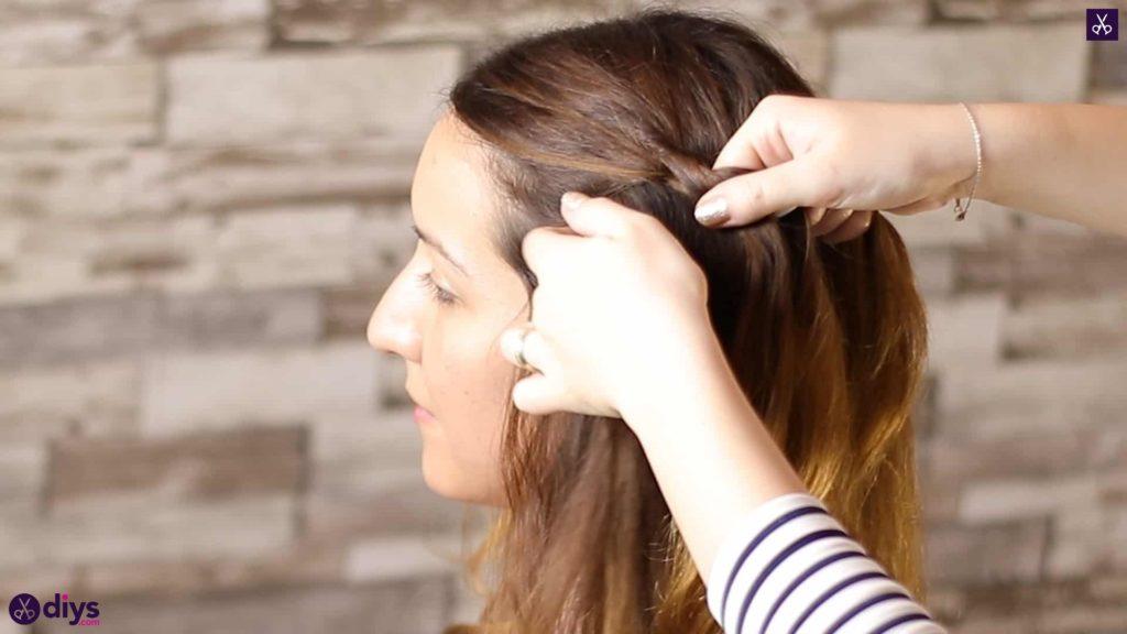 Elegant side braid hairstyle step 22b