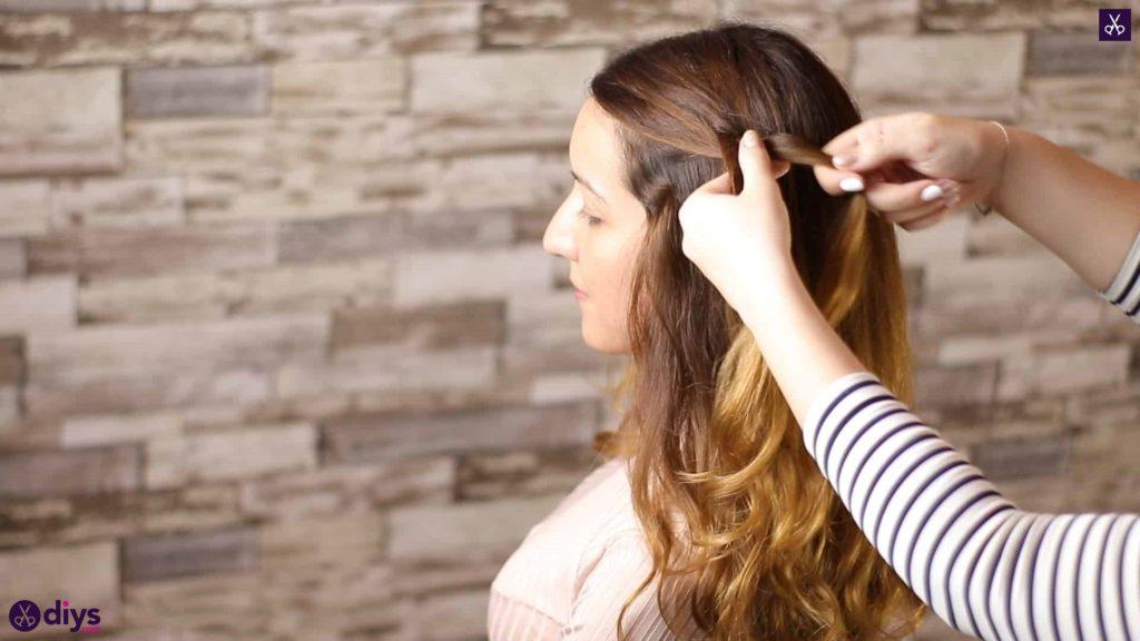 Elegant side braid hairstyle step 2a