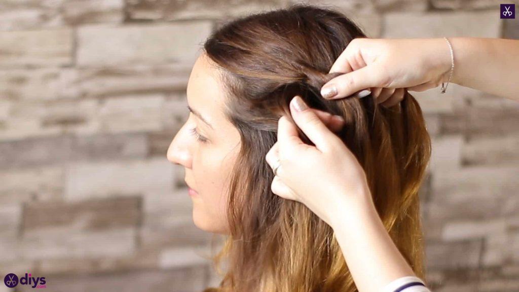 Elegant side braid hairstyle step 2c