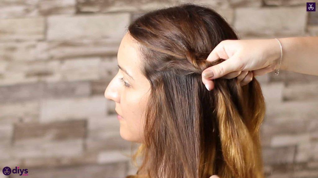 Elegant side braid hairstyle step 2d