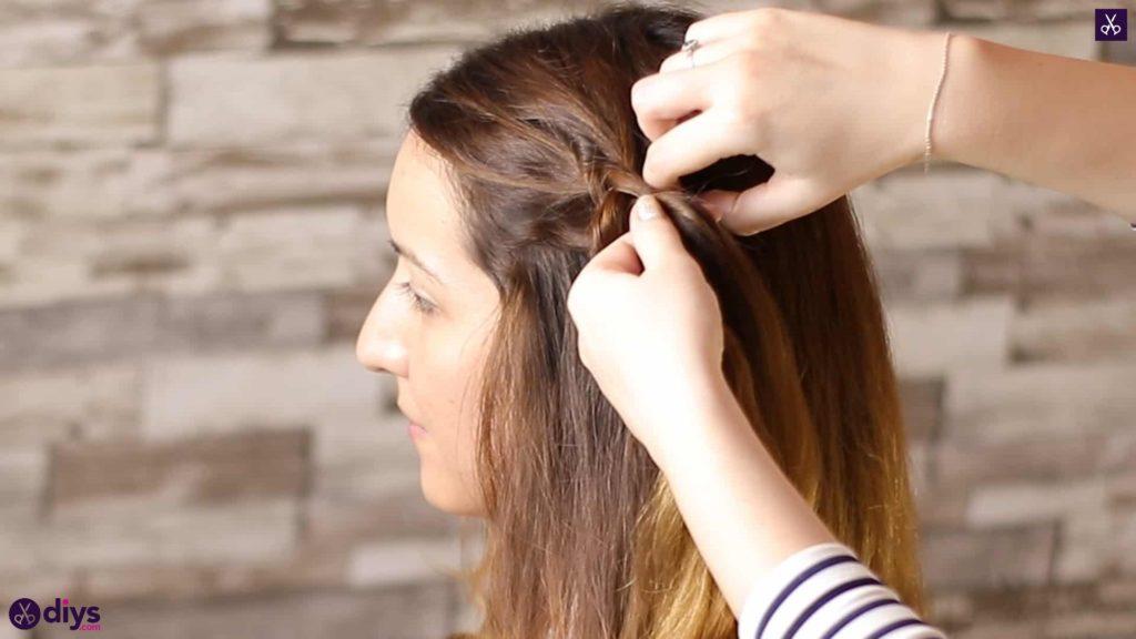 Elegant side braid hairstyle step 3