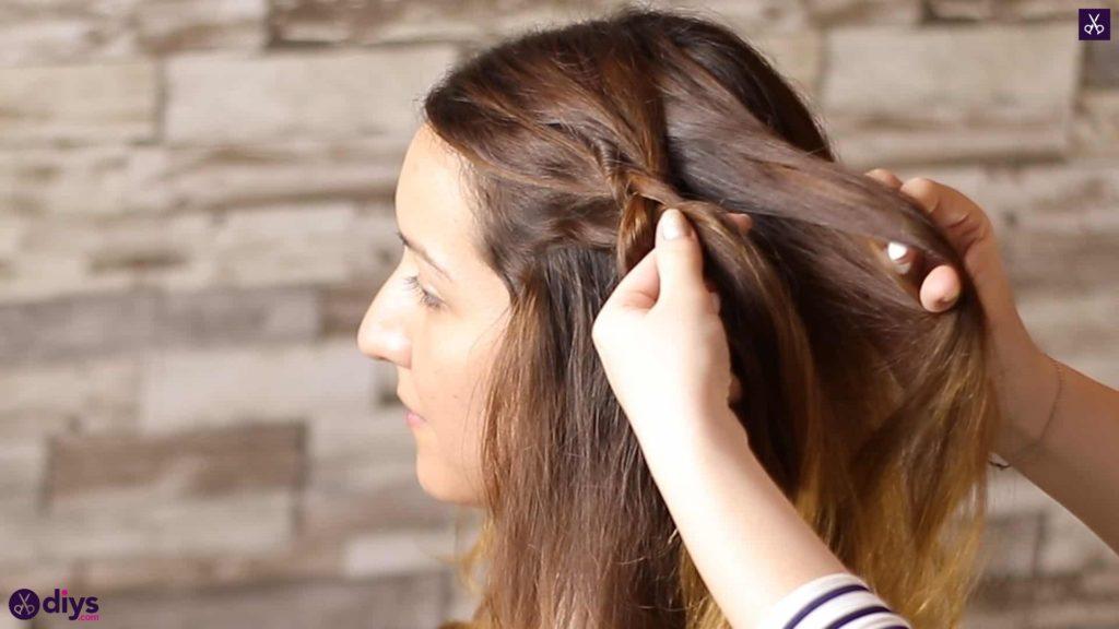 Elegant side braid hairstyle step 3a