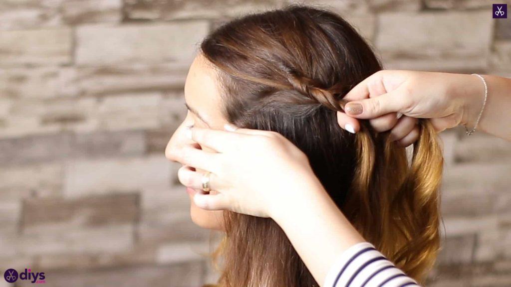 Elegant side braid hairstyle step 3b