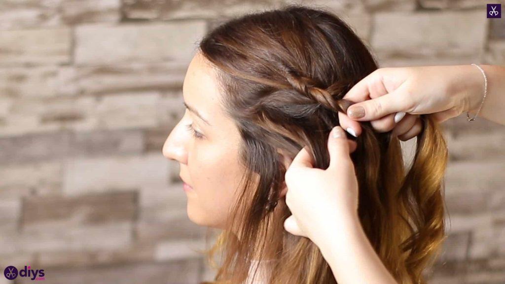 Elegant side braid hairstyle step 3c