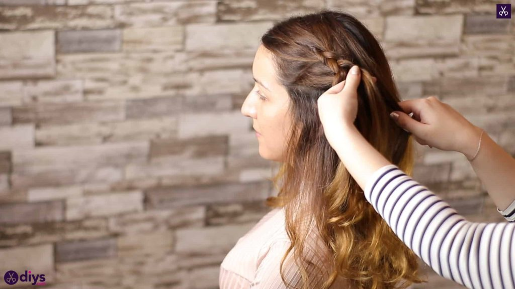 Elegant side braid hairstyle step 3e