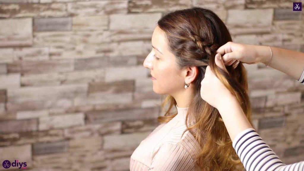 Elegant side braid hairstyle step 3f