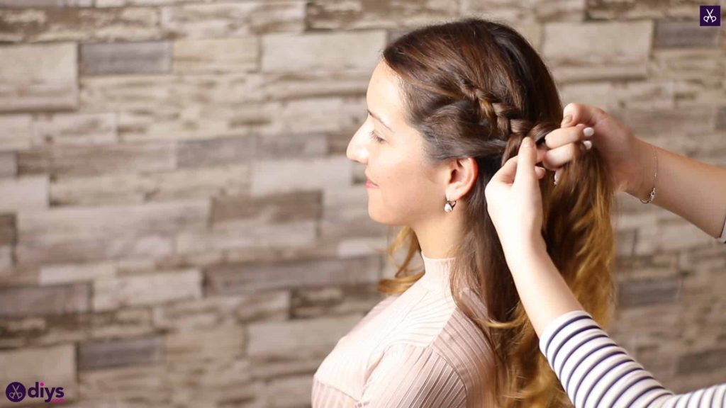 Elegant side braid hairstyle step 3g