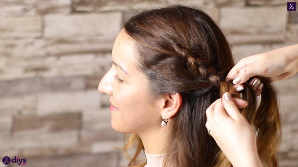 Elegant side braid hairstyle step 3h