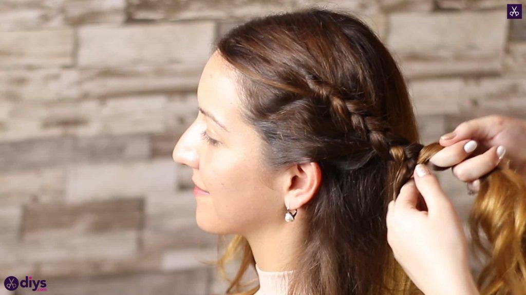 Elegant side braid hairstyle step 3i
