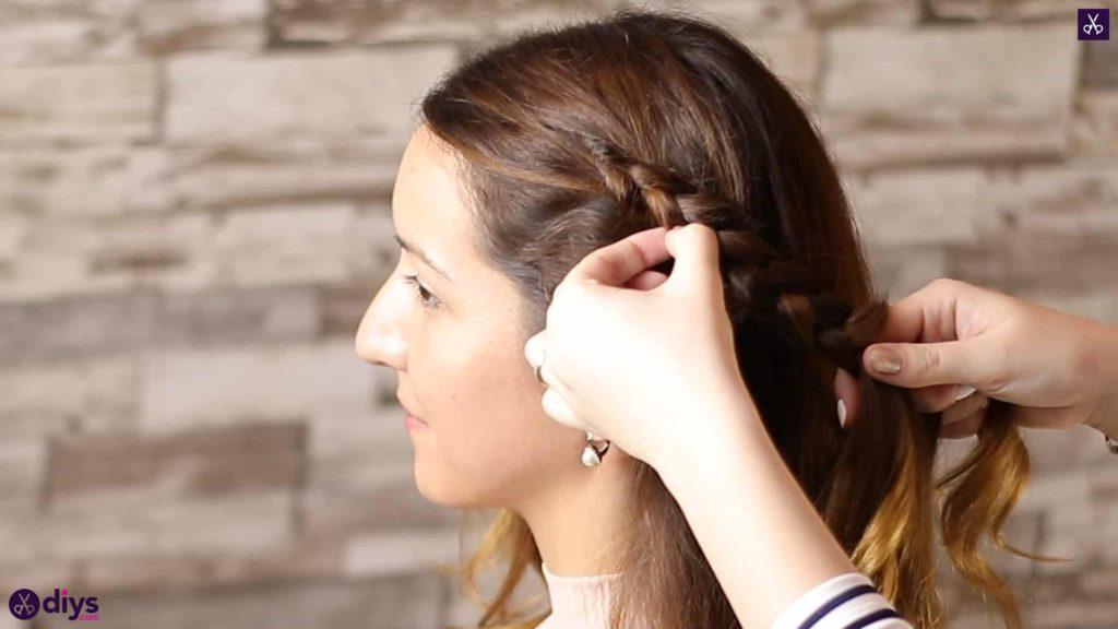 Elegant side braid hairstyle step 4