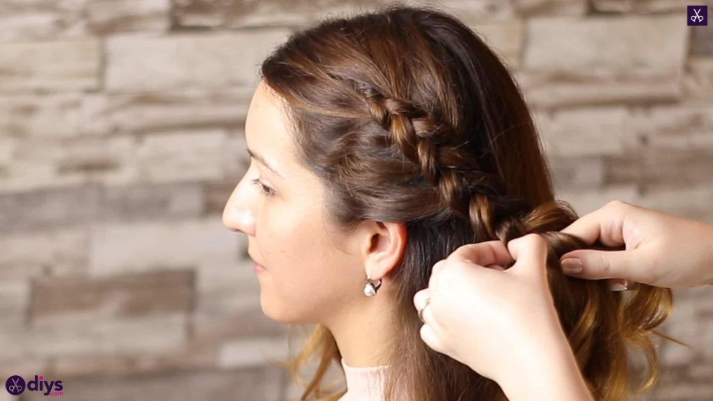 Elegant side braid hairstyle step 4b