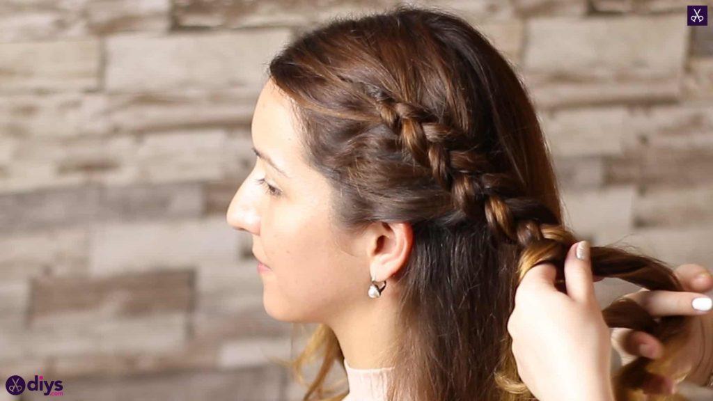 Elegant side braid hairstyle step 4c