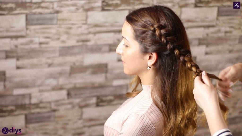 Elegant side braid hairstyle step 5