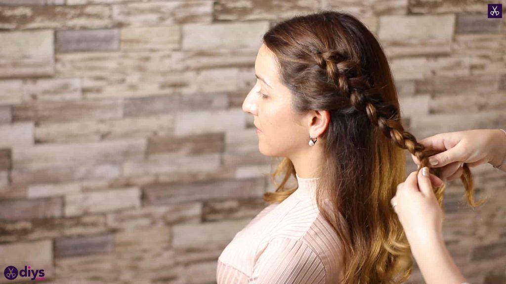 Elegant side braid hairstyle step 5a