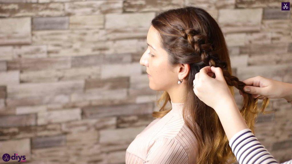 Elegant side braid hairstyle step 5b