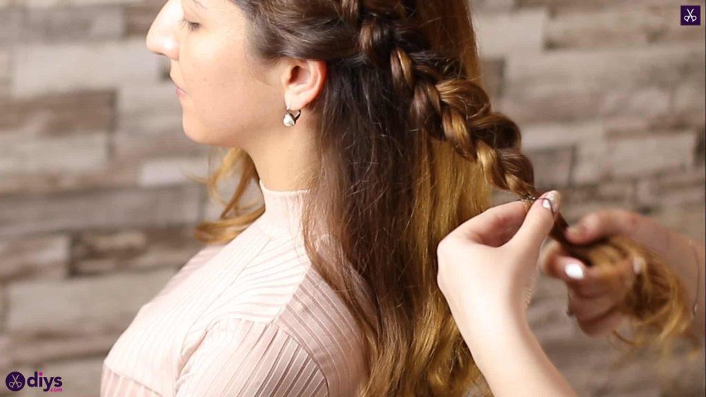 Elegant side braid hairstyle step 5f