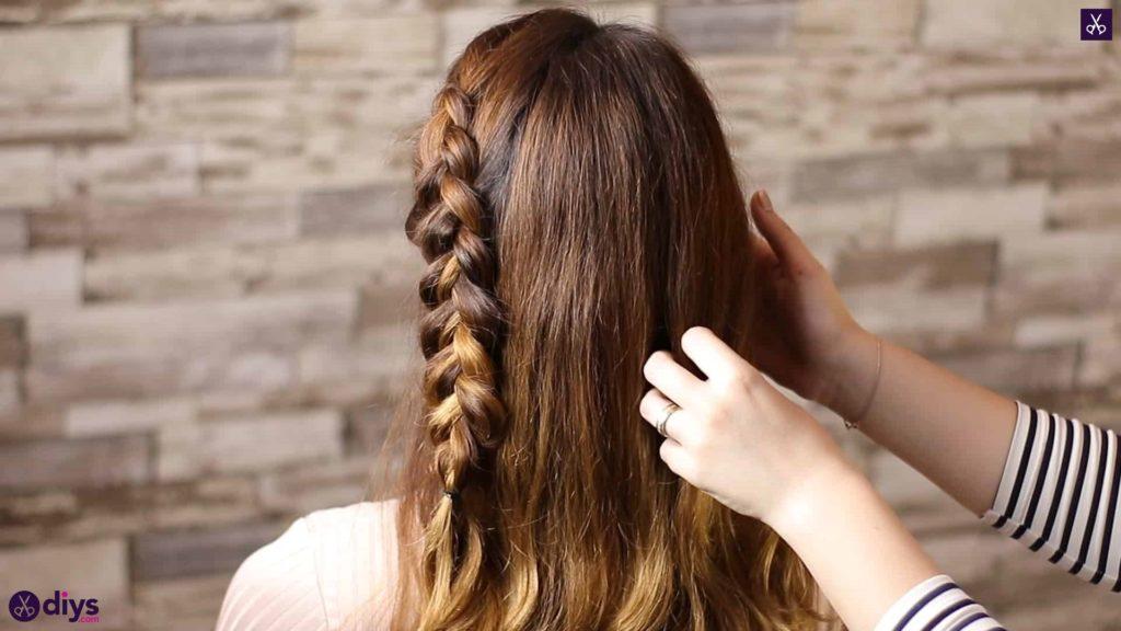 Elegant side braid hairstyle step 6