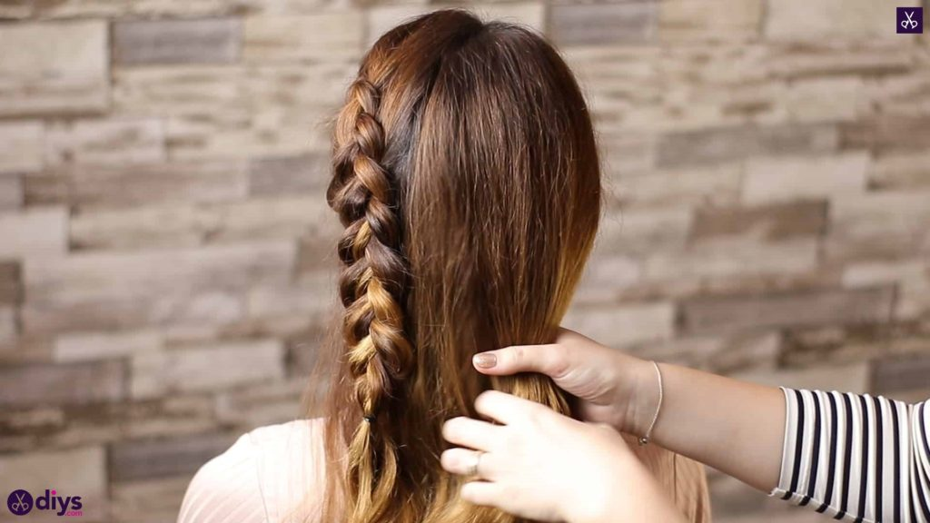 Elegant side braid hairstyle step 6a